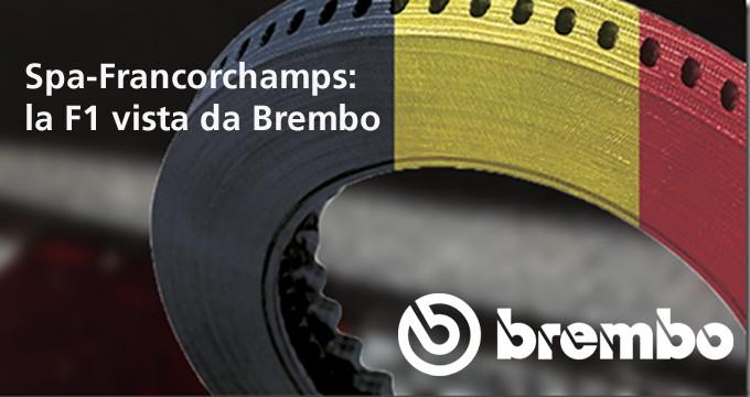 Il GP Belgio Formula 1 2019 secondo Brembo.