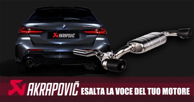 Scarico AKRAPOVIC per la nuova BMW M135i (F40): Pure Performance!