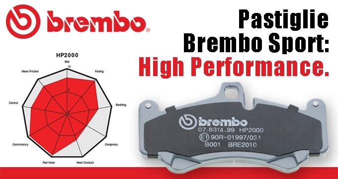 Brembo High Performance: le pastiglie sport per la tua auto!