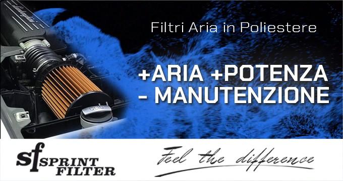 Tecnologia Sprint Filter: più aria = più potenza!