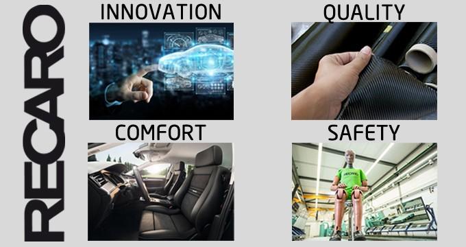 Guida eccellente con i sedili RECARO: innovazione, comfort e leggerezza.